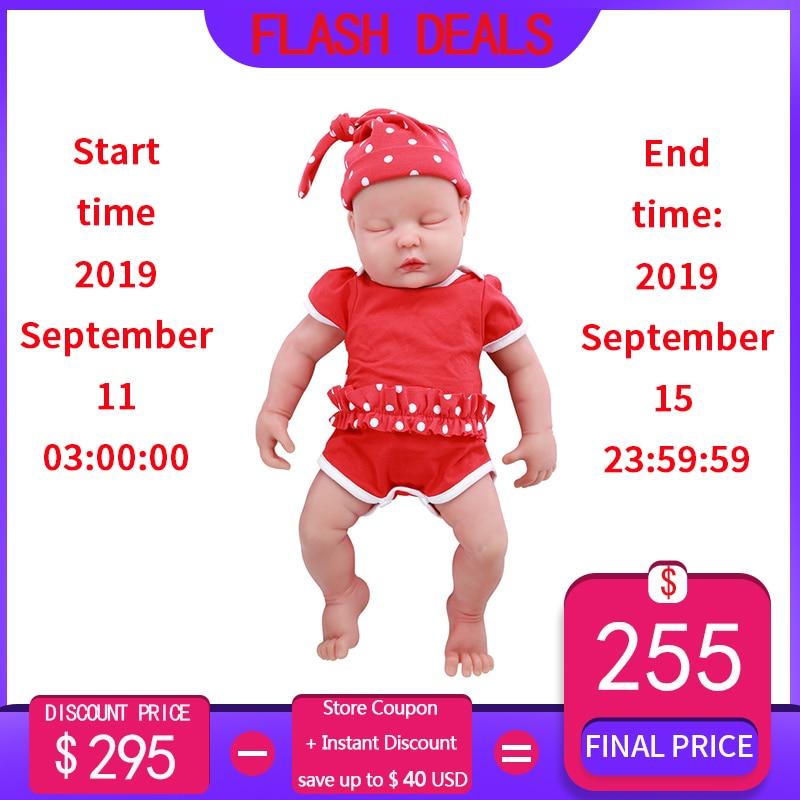 IVITA WG1510 47cm 3.67kg fille yeux fermés haute qualité corps complet Silicone Reborn poupées né vivant Brinquedos réaliste bébé jouet