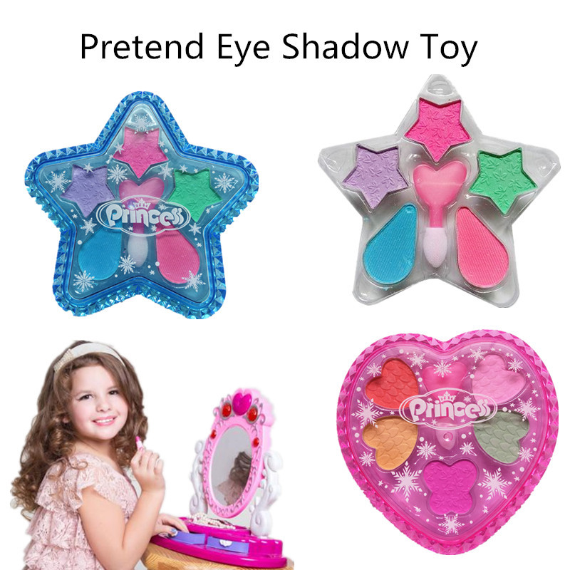 1 PC DIY Washable Makeup Tools For Kids Girls Toys Children Simulation Eye Shadow Pretend Play Cosmetics Kit Party Gifts