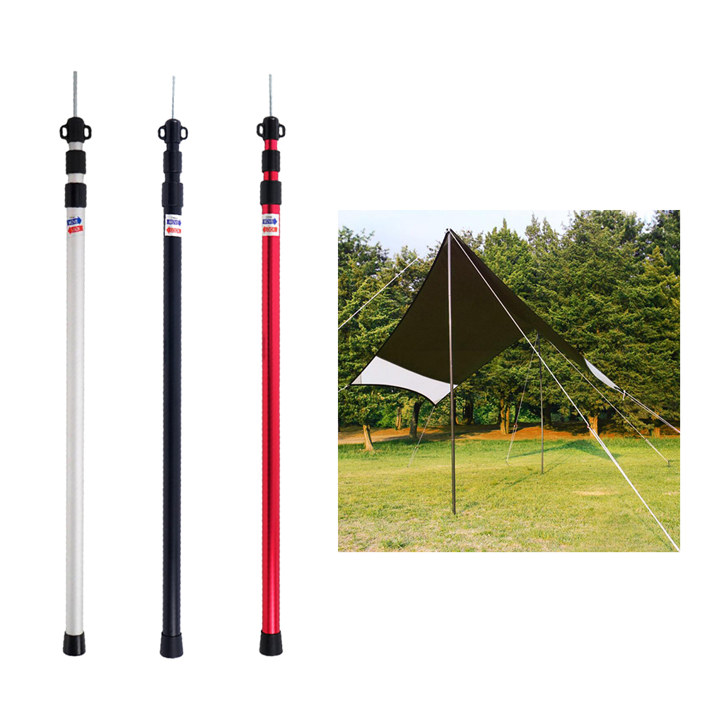6061 Aluminium Alloy 3-Section Camping Tent Awning Support Rod Canopy Pole Outdoor Camping Hiking Picnic Tents Accessoires