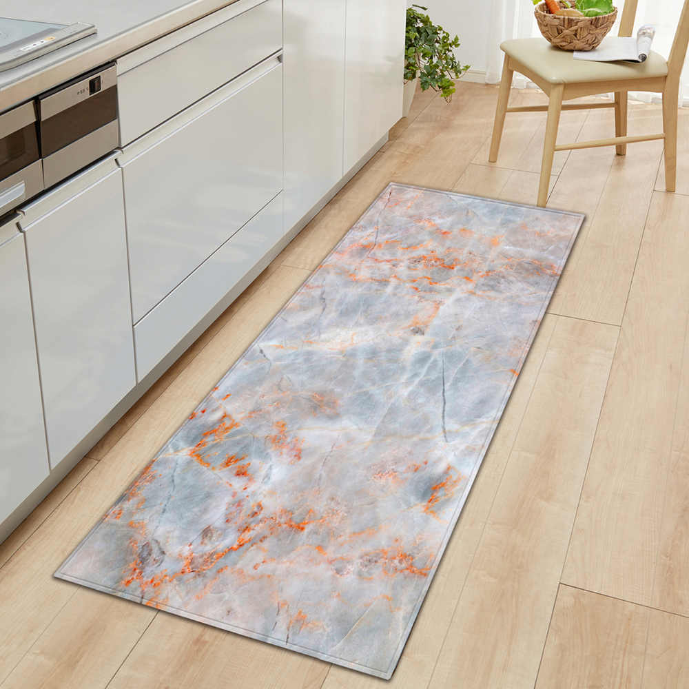 Nordic ห้องครัวห้องนอน Doormat บ้านห้องโถงตกแต่งห้องนั่งเล่นพรมพรมไม้ห้องน้ำพรมกันลื่นพรม