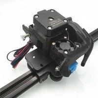 Montado 1.75mm bmg extrusora + e3d v6 cabeça de impressão para atualizar direto v6 hotend adaptador creality ender 3 pro CR-10 (s) impressora 3d