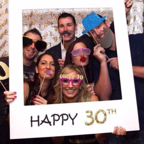 30/40/50th <font><b>Frame</b></font> Photo Booth Props Happy Birthday Paper Party Props Photo Booth <font><b>Frame</b></font> Plaques <font><b>Signs</b></font> Supply Accessory image