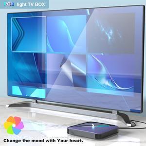 Image 4 - A95X F3 RGB אור טלוויזיה תיבת Amlogic S905X3 אנדרואיד 9.0 4GB 64GB תמיכה כפולה Wifi 8K 60fps plex Media שרת A95XF3 סט Top Box