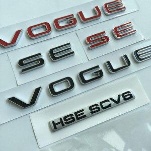Image 2 - L SDV8 SCV6 barra con emblema para Range Rover VOGUE, VOGUE, edición ejecutiva extendida, insignia de borde lateral de coche, pegatina con estilo para maletero