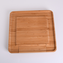 Bamboo Cheese Board & Slide Out Drawer Cooking Tools Household Serving Tray