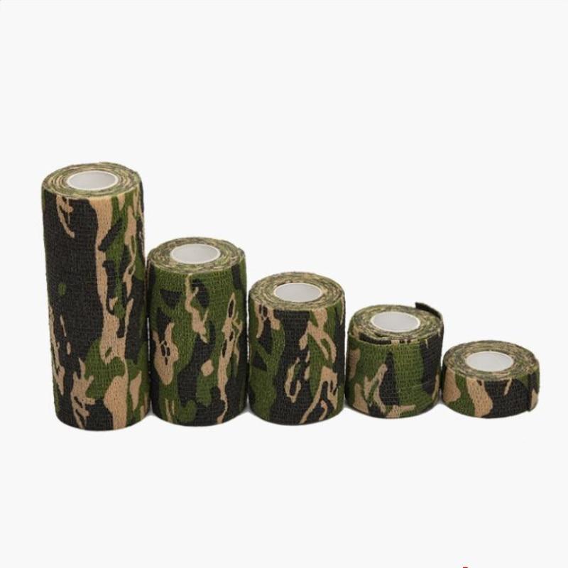 Camouflage Bandage First Aid Kit 2.5/5//10/15cm Self-adhesive Cshesive Sports Body Gauze Vet Medical Tape Security Protection