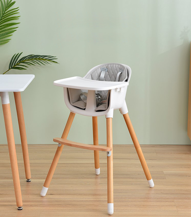 Infant Baby Highchair With Safety Belt Baby Safety Bebe Feeding Dining Chair Multi-function Height-adjust Convertible 2 In 1 HWC
