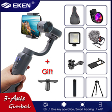 EKEN S5B Upgraded Version 3-Axis Handheld Gimbal Stabilizer w/Focus Pull & Zoom for iPhone Xs Xr 8 Plus 7 Samsung Action Camera