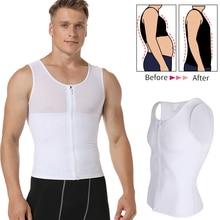 Mens Abnehmen Body Shaper Gynecomastia Compression Shirts Bauch steuer Shapewear Brust Abs Dünne Weste Taille Trainer Männlichen Korsett