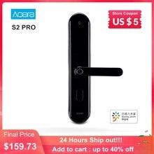 Aqara s2 pro inteligente fechadura da porta senha de impressão digital chave desbloqueio app em tempo real monitor de privacidade dispositivo de casa