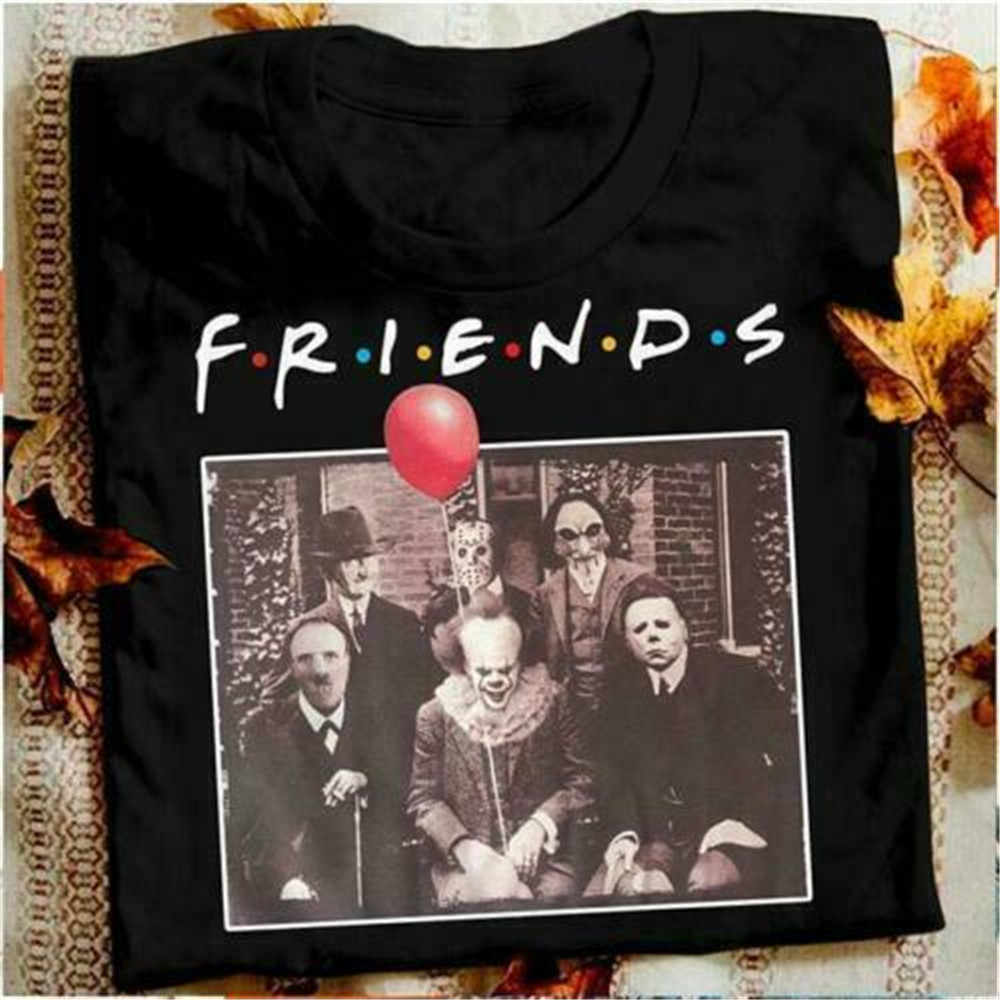 Horror Friends Pennywise Michael Myers Jason Voorhees Halloween Men T-Shirt Cotton matching T-shirt