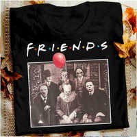 Horreur amis Pennywise Michael Myers Jason Voorhees Halloween hommes T-Shirt coton correspondant T-shirt