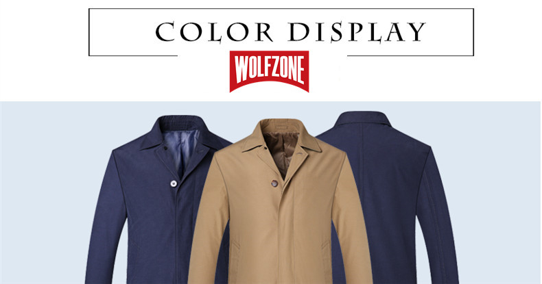 2018 New Spring Mens Casual Trench Coat Khaki blue Longline Thin Windbreaker Coats (6)