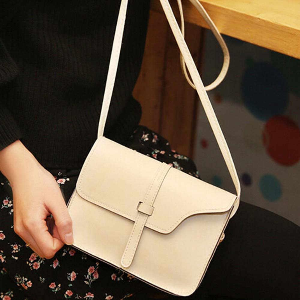 Мини кожаная сумка через плечо простой дизайн для женщин 2019 цепь Женская
