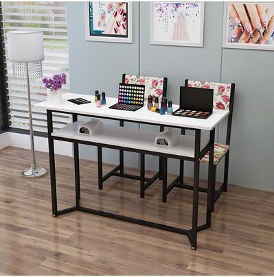 Стол для маникюра, одиночный двойной стол для маникюра, специальная цена, экономичный простой современный стол для маникюра и стула - Цвет: 120CM