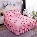 가정용 침대 커버 꽃 장착 시트 커버 침대보 침실 홈 섬유 cubrecama 단일 전체 여왕 침대보