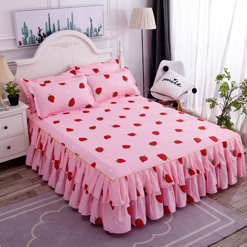Household Bedcover Floral Fitted Sheet Cover Bedspread Bedroom Home Textile Cubrecama Single Full Queen Bedspread