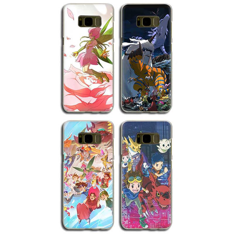 Digimon aventura capa dura do telefone para samsung galaxy s6 7 edge s8 9 plus s10 e plus note8 9 m10 20 30