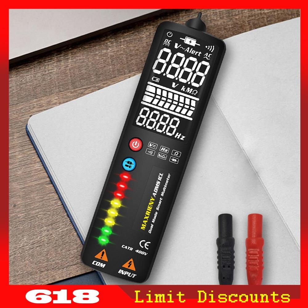 MAXRIENY Digital Multimeter Hidden-Wire-Tester Ebtn-Display Ncv-Test Continuity S1 Smart