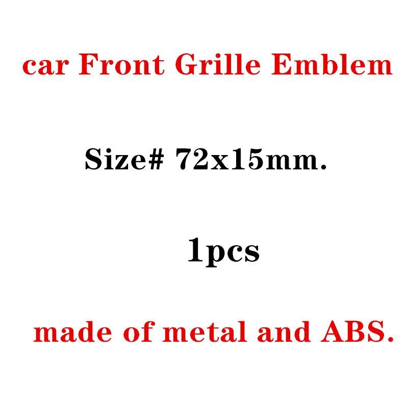 1X New Auto Car Matt Silver Chrome Black Metal Grille Emblem For Audi S Line Sline A4 S4 RS4 A6 TT A3 Emblem