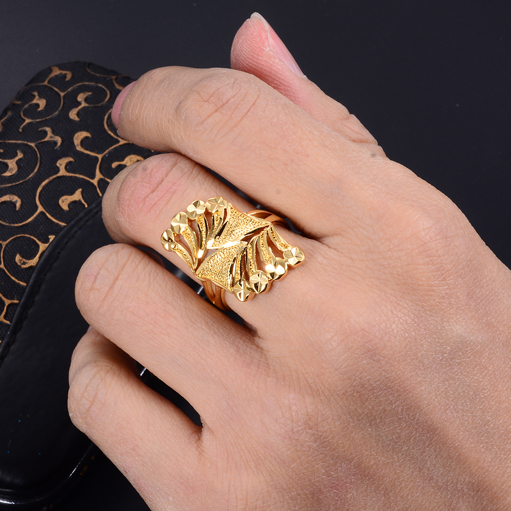 Wando Arab Free Size Sailboat Gold Color Ring For Women Teenager