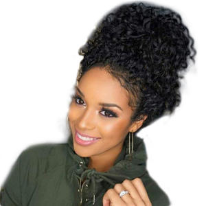 Frontal Pre-Plucked Natural Wig for Black Women Deep-Wave Curly Virgin Human-Hair Hairline