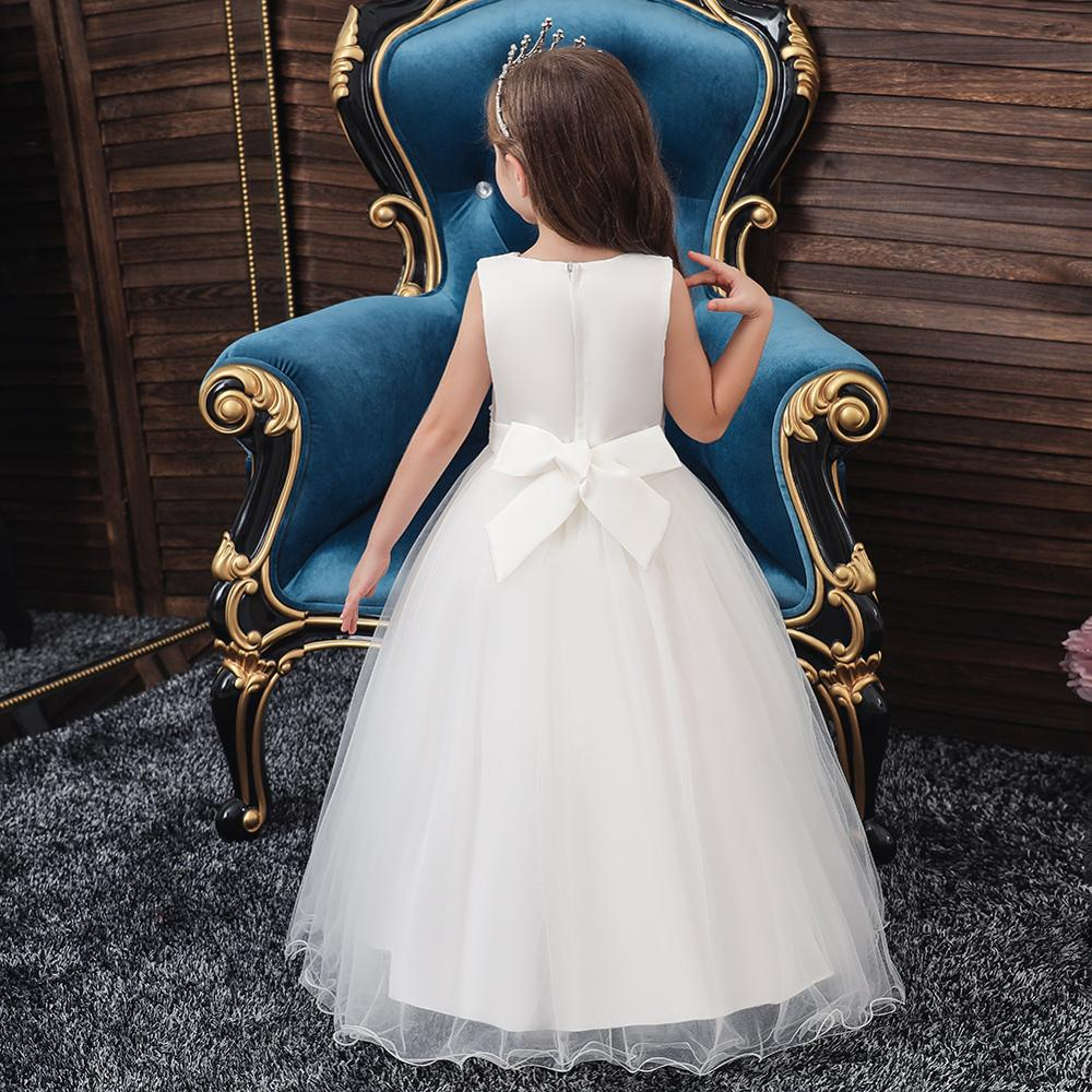 Flower Girl Party Banquet Fall and Winter Knitted Dresses Floor Length Girls Pageant Dresses Wedding Party Dress vestidos