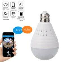 VR Full 1080P Wifi caméra IP 360 lampe de sécurité panoramique ampoule CCTV Surveillance vidéo Fisheye HD Vision nocturne couloir lumière