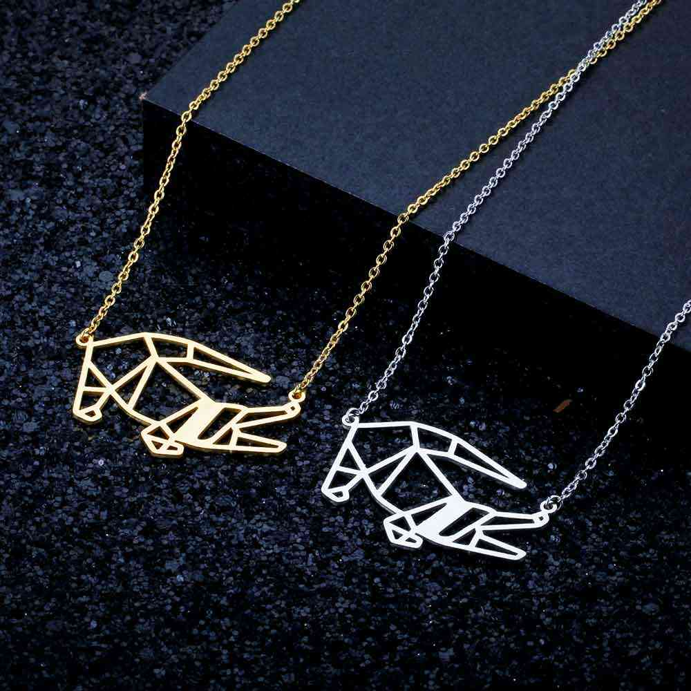 100% Stainless Steel Animal Crocodile Fashion Necklace for Women Unique Design Pendant Necklaces Personality Jewellery