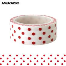 Masking Tapes Stationery Sticker Decorative Stars Colored 1-Roll 15mm--5m Christmas-Wave
