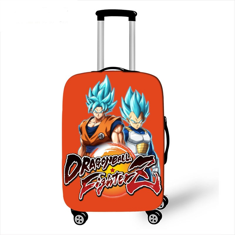Anime Dragon Ball Luggage Protective Cover Travel Accessories Saiyan Goku Vegeta Elastic Anti-dust Suitcase Cover For 18-32 Inch