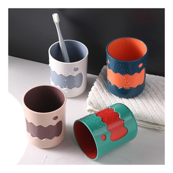 Travel Accessories Washing Brush for Cups Bathroo Plastic Toothbrush Holder Storage Organizerbathroom Cup Solid Color image