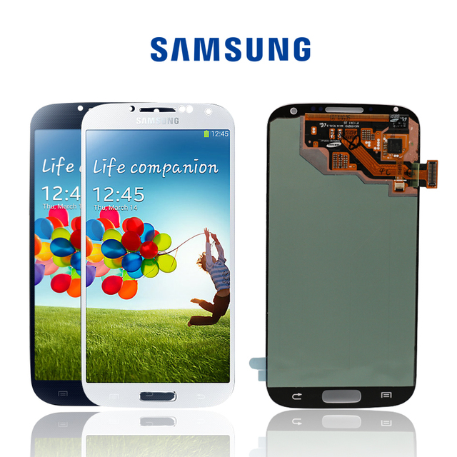 Original Amoled LCDs Assembly For Samsung Galaxy S4 i9506 i9500 i9505 i337 Screen LCD Touch Screen Display Digitizer+with Frame