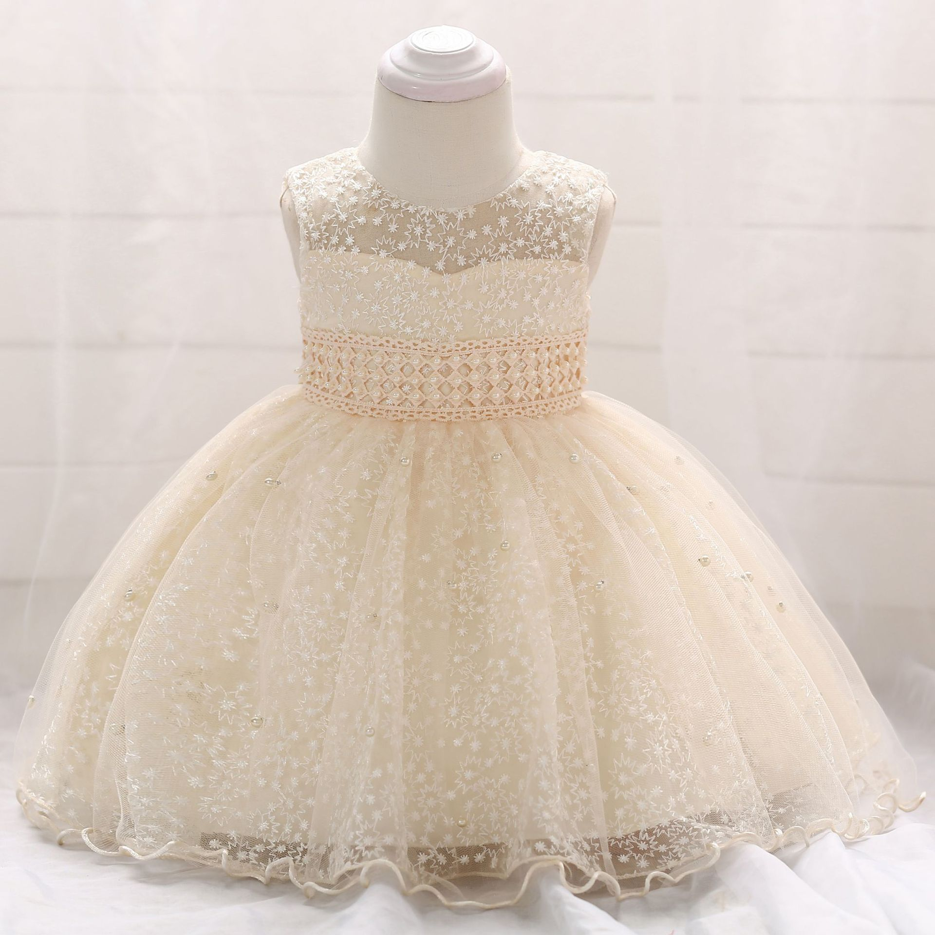 0-24M Newborn Baby   Flower     Girl     Dress   Fashion Lace Colorful Puffy Princes   Girl     Dresses   For Wedding