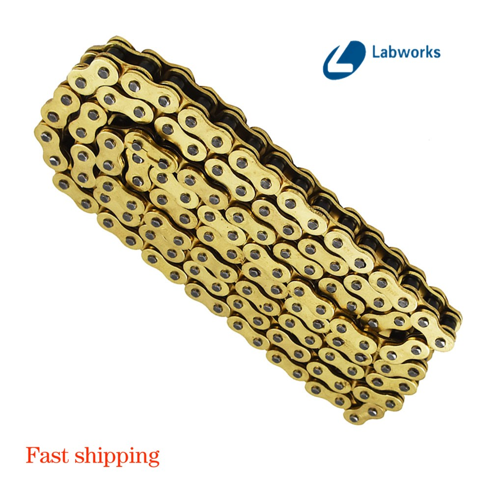 Drive Chain Gold Color With O-Ring 525-120 ATV Motorcycle 525 Pitch 120 Links image