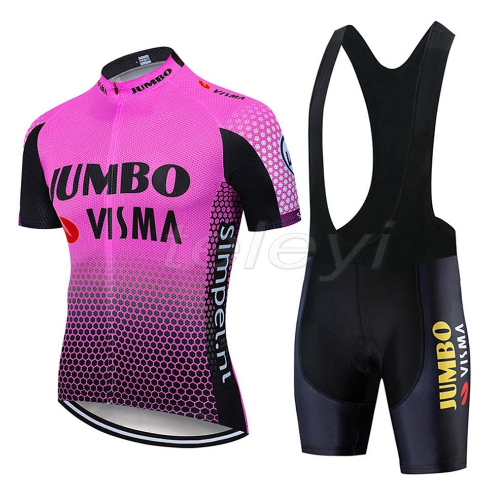 2020 nova pro equipe jumbo conjuntos de camisa ciclismo mtb bicicleta calções respirável roupas ropa ciclismo maillot terno