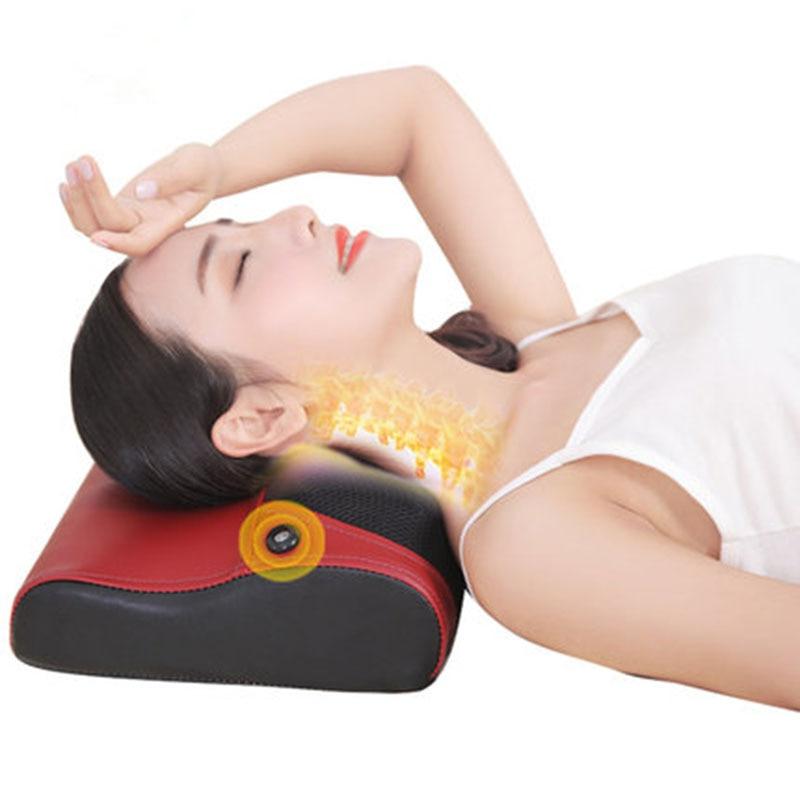 Cervical Massager Household Multifunction Massage Pillow Whole Body Electric Massage Pillow Waist Shoulder Massager Pillow