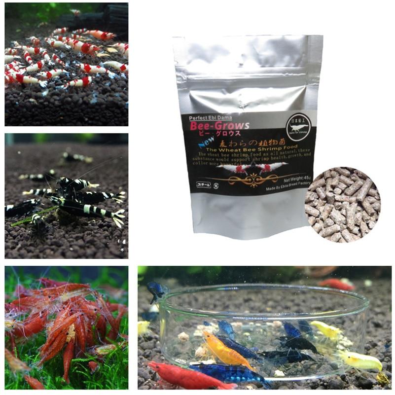 45 г Пуэр чай натуральный аквариум креветка, еда пшеницы стебель бактерий креветка, еда, содержащий витамины, минералы для с украшением в вид...