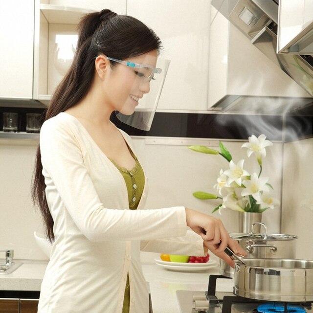 New Transparent Anti-fog Anti-Oil Splatter Full Face Shield Mask Cooking Protector