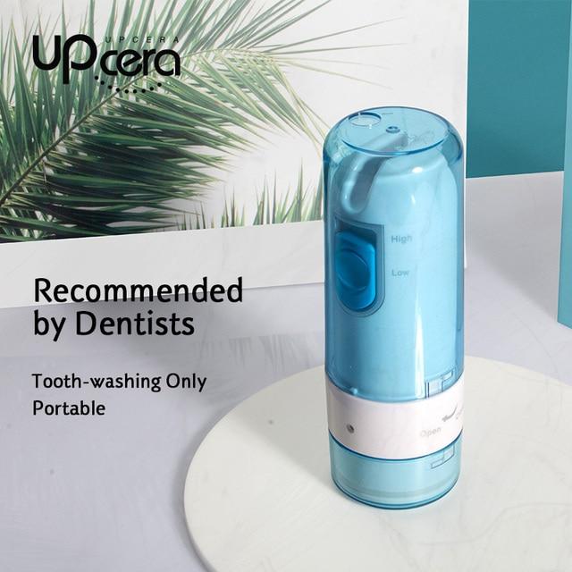 Upcera oral irrigator dental water flosser Waterproof Teeth Cleaner Portable Dental Water Jet