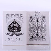1pcs Ellusionist Bicycle White Ghost Deck Magic Cards Playing Card Poker Close Up Stage Tricks for Professional Magician