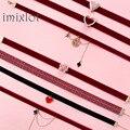 Корейское жемчужное ожерелье-чокер, кружевное бархатное короткое ожерелье до ключиц, модные ювелирные изделия, милое Ювелирное Украшение д...