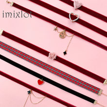 Gargantilha de pérolas na coréia, colar de pérolas, coração, amor, colar, rendas, veludo, curto, clavícula, joias, meninas, joias fofas