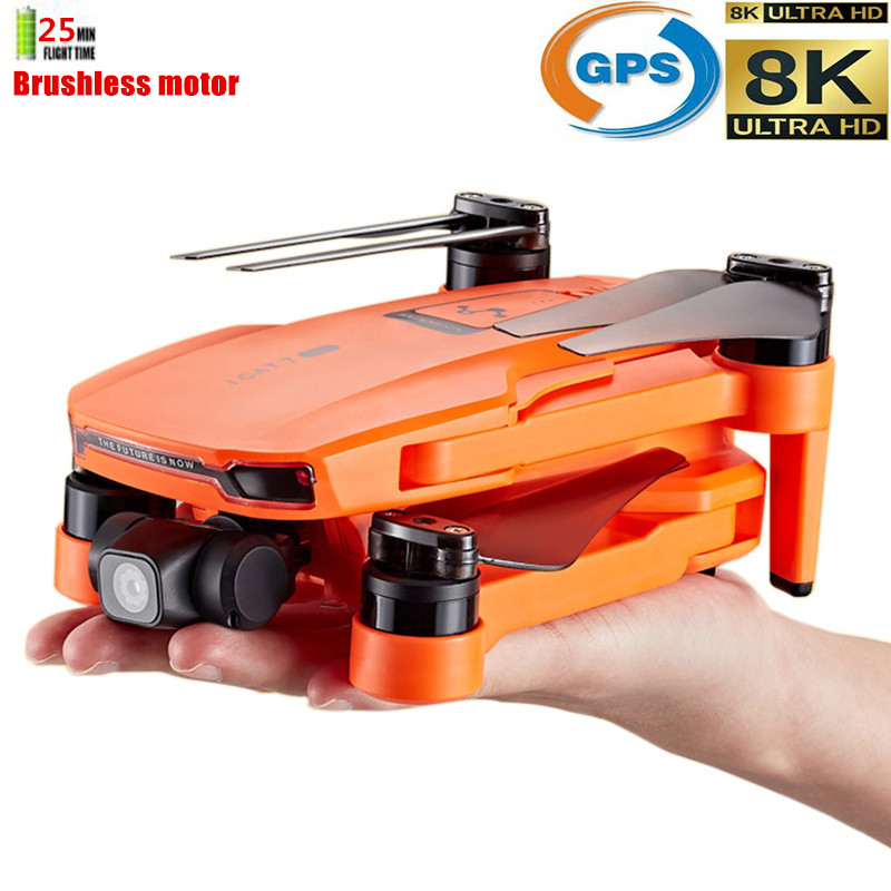 Profession 8K GPS Dron Quadrocopter With HD 2-Axis Servo Gimbal Camera Anti-Shake Follow Me RC Quadcopter Drones Support SD Card