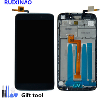 "For 5.5""Alcatel One Touch Idol 3 OT6045 6045 6045K 6045Y Touch Screen Digitizer LCD Display Assembly With Frame Free Shipping(China)"