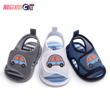 2019 Newborn Baby Slippers Shoes Summer Soft Style Boy Girl Cartoon Printed Sole