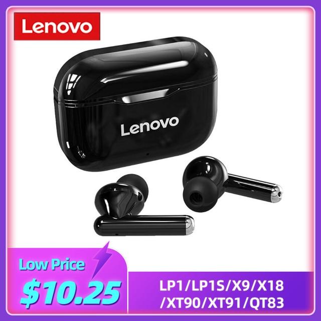 Lenovo LP1/LP1S/X9/X18/XT90/XT91/QT83 Wireless Headphones Bluetooth 5.0 Headset Touch Control Sport TWS Earbuds In ear Earphones