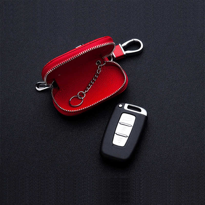 Porte-clés de voiture en cuir Logo de voiture sac de clé pour Opel Volkswagen Kia Honda BMW Audi Benz Nissan Hyundai Ford Toyota Skoda Lexus portefeuille