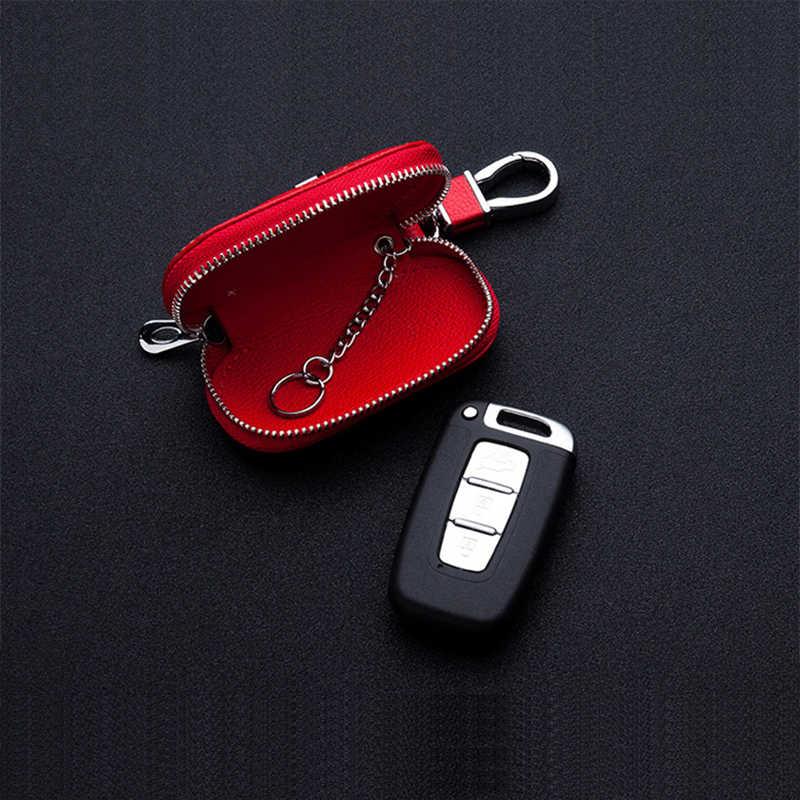Skórzana obudowa kluczyka do samochodu etui na klucze do opla BMW Audi Benz Volkswagen Chevrolet Kia Honda Nissan Hyundai Ford Toyota JEEP Skoda Lexus