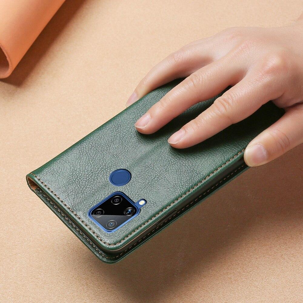 Чехол Кошелек для OPPO Realme C15, кожаный чехол накладка из ТПУ для OPPO Realme C15, Магнитный флип чехол с отделением для карт и подставкой, чехол для телефона|Бамперы| | АлиЭкспресс